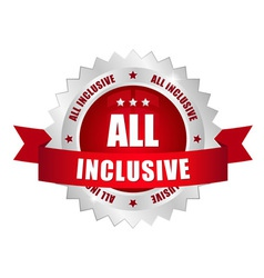 All inclusive button vector image