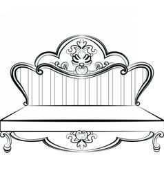 Royal sofa in rococo style vector