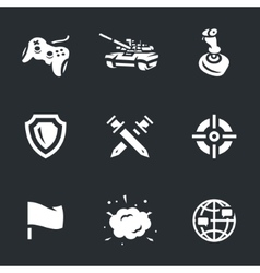 Icons set of tank video games vector