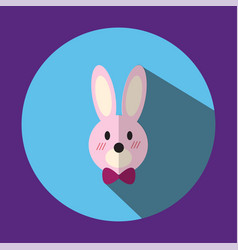 The is a picture of a pink rabbit ear vector