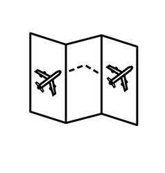 Plane map icon vector