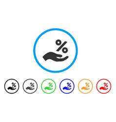 Percent offer hand rounded icon vector