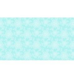 Elegant white lace flower seamless pattern on blue vector