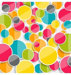 Abstract Glossy Circle Background vector image