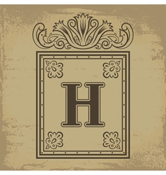 Letter H vector image