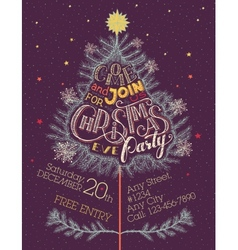 Christmas eve party hand-lettering vector