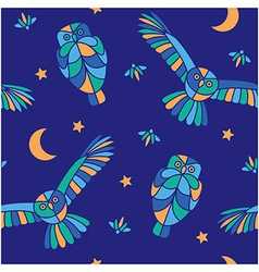 Magic midnight - seamless pattern vector