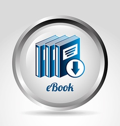 Ebook icon vector