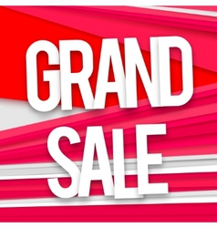 Grand sale banner vector