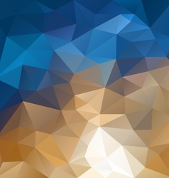Beige blue abstract polygon triangular pattern vector