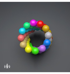3d colorful spheres composition template vector