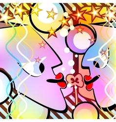 Surreal people Motley version vector image