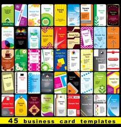 45 business cards vector