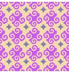 Spiral and star seamless pattern vector