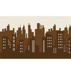Brown backgrounds building silhouette vector