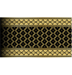 Abstract gold exotic thai seamless pattern border vector