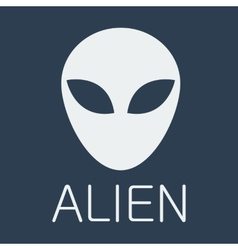 Alien on blue background vector