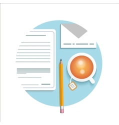 Business documents concept vector image vector image