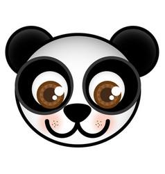 Cartoon bear animal head expression vector