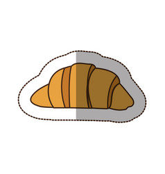 Color croissant bread icon vector