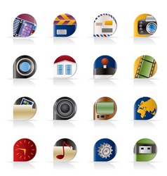 computer and mobile phone icons vector image vector image