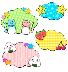 Cute stickers vector
