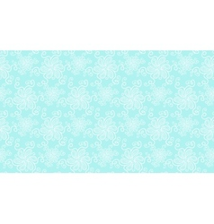 Elegant white lace flower seamless pattern on blue vector