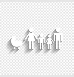 Family sign white icon with vector
