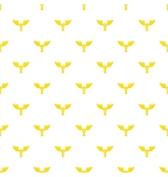 Gold cup with wings pattern cartoon style vector