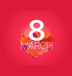 Happy 8th of march greeting card layout banner vector