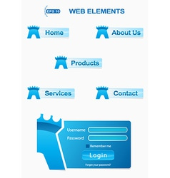 Icons elements for security website vector