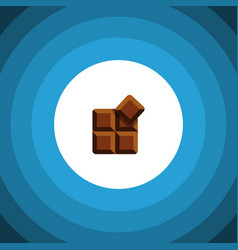 Isolated delicious flat icon cocoa element vector