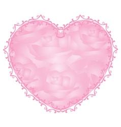 Pink heart - notepaper vector