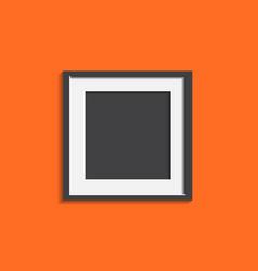 Realistic photo frame isolated on orange vector