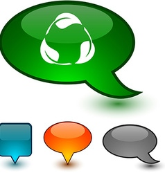 Recycle speech comic icons vector
