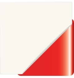Red paper corner vector