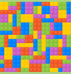 Seamless Pattern Plastic Constructor Bricks vector image