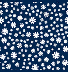Seamless pattern snowflakes endless background vector