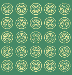 seamless pattern with stars on green background vector image vector image