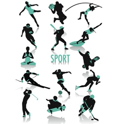 sport silhouette vector image