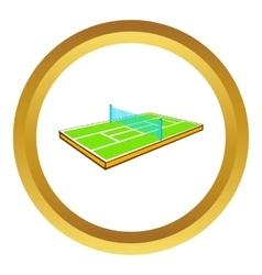 Tennis court icon vector