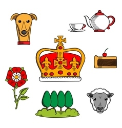 Traditional symbols of great britain vector