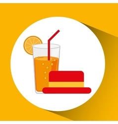 Travel tourist hat concept cocktail drink vector