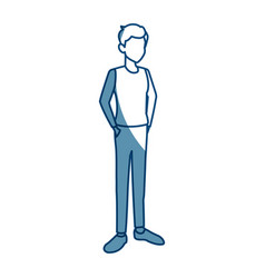 young avatar man people standing vector image vector image