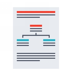 Business plan document vector image