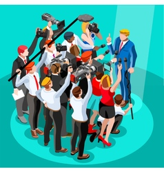 Election news infographic tribune isometric people vector