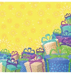 Holiday gift boxes background vector