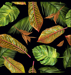 Tropial leaves pattern vector
