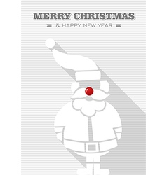Merry Christmas red dot white Santa Claus vector image