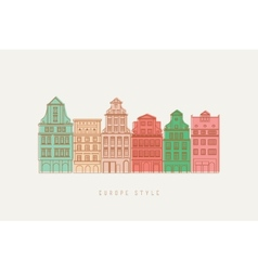 Europe city background vector